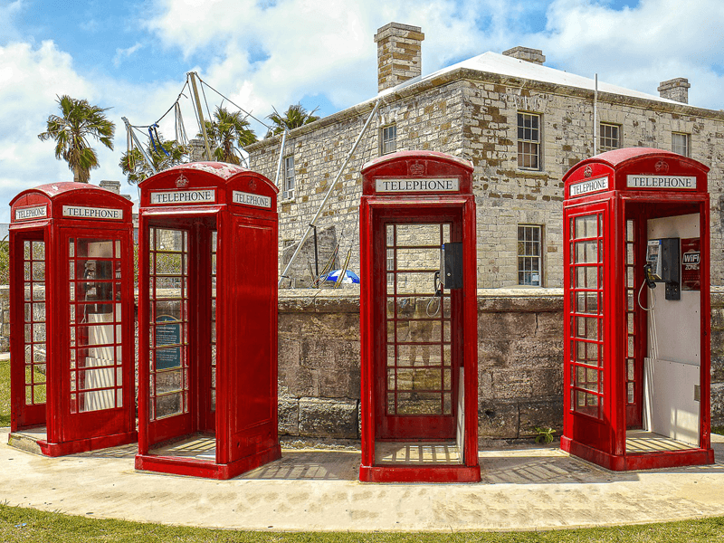 Red phone booths Bermuda