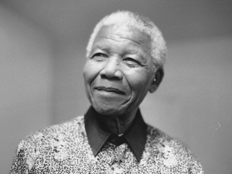 Headshot of Nelson Mandela