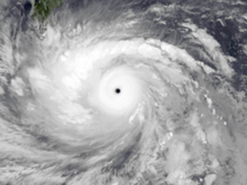 Satellite image of Typhoon Haiyan