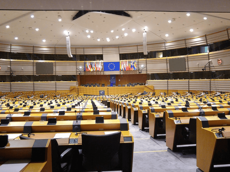 European Parliament debating chamber